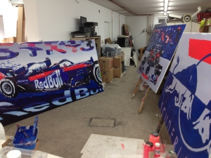 toro rosso str13 artwork by gerald herrmann