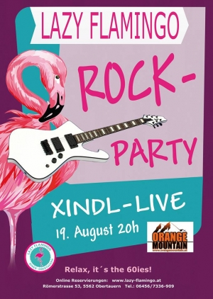 rockparty mit xindl im lazy flamingo obertauern